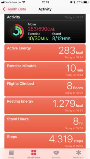 Fit bleiben mit der Apple Watch 3
