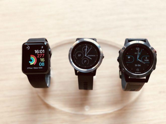 Apple Watch 3 vs Garmin Vivoactive 3 vs Garmin Fenix 5