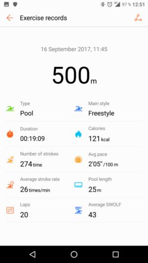 Huawei Fit Test - Schwimmen
