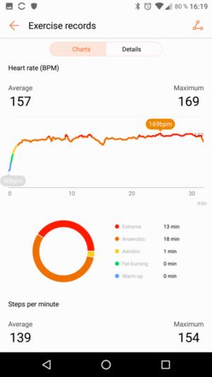 Huawei Fit HR-Daten