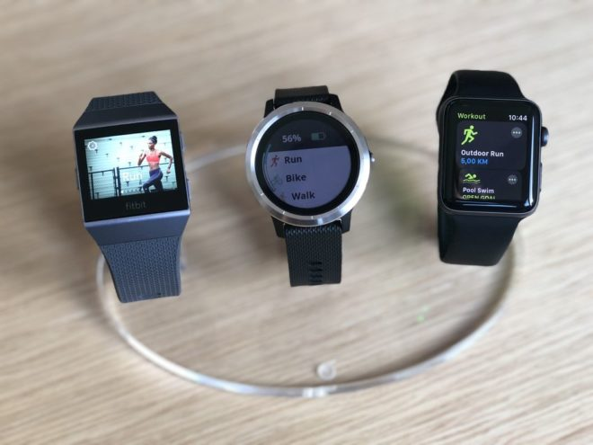 Fitbit Ionic vs Garmin Vivoactive 3 vs Apple Watch 3 - Sportprofile