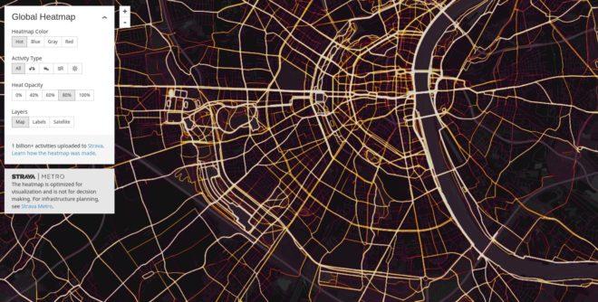 Strava Global Heatmap - Köln