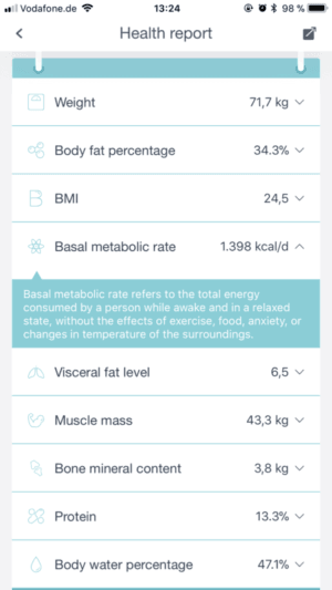 Huawei Body Fat Scale App