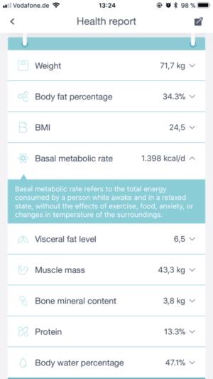 Huawei Body Fat Scale App