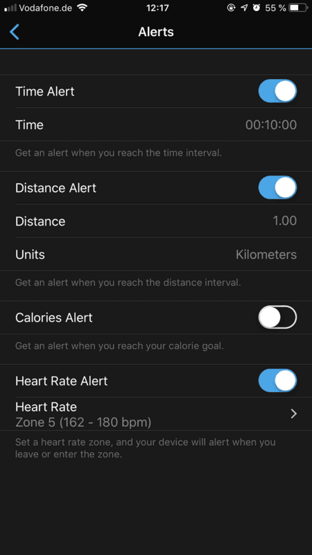 Garmin Vivosmart 4 - Connect App
