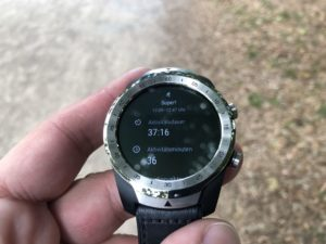 Ticwatch Pro Trainingsdaten