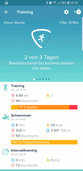 Fitbit Charge 3 Test: Schwimmen