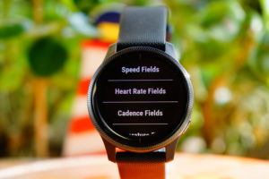 Garmin Venu: Datenfelder