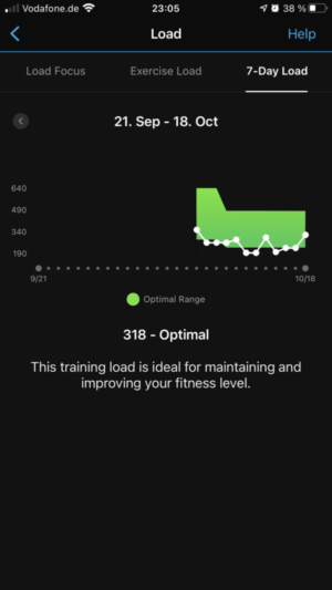 Garmin Connect: Load (Trainingsbelastung)