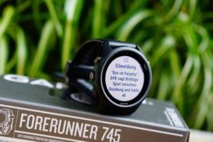 Garmin Forerunner 745: Smartphone-Benachrichtigungen