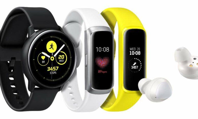 Samsung Galaxy Watch Active, Fit und Buds (Bild: Samsung)